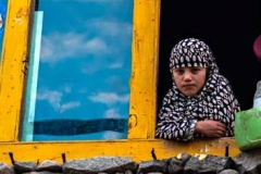 Bimba musulmana della città di Kargil, Kashmir