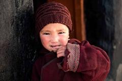 Giovane monaca del monastero di Karsha