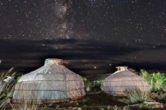 Via lattea a Ongi, Mongolia