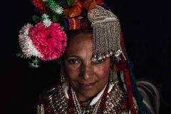 Donna dell'etnia Drokpa, Kashmir indiano