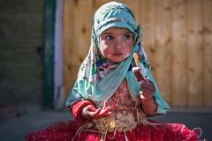 Bimba della città di Kargil, Kashmir