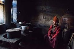 Monaco buddista del monastero di Karsha, Kashmir