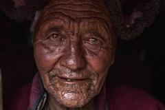Anziano del paese di Rangdum, Kashmir