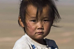 Bimba nel deserto del Gobi, Mongolia