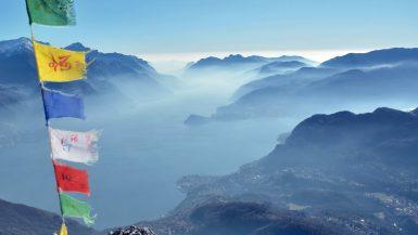 La vista dal Monte Grona, il lago di Como in tutta la sua bellezza