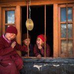 Monache novizie del monastero di Karsha, Ladakh