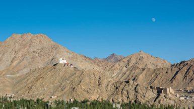 La cittadina di Leh vista dall'alto