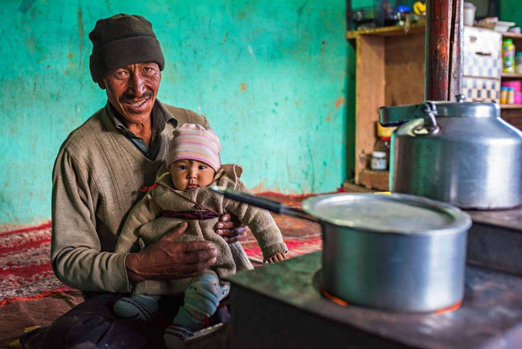 La famiglia di Rangdum che ci ha ospitati durante il nostro viaggio in Ladakh