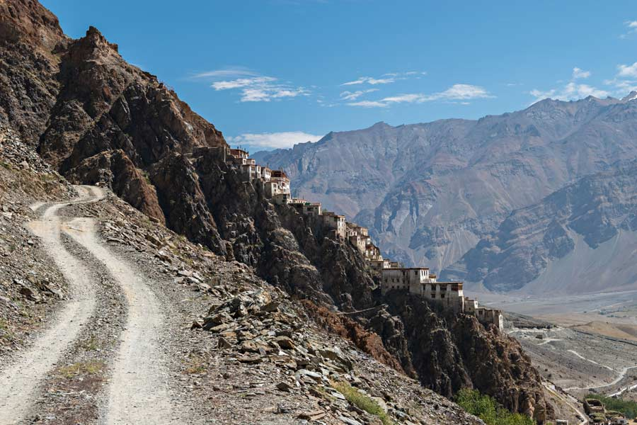 Lo splendido monastero di Karsha nella valle dello Zanskar in Ladakh