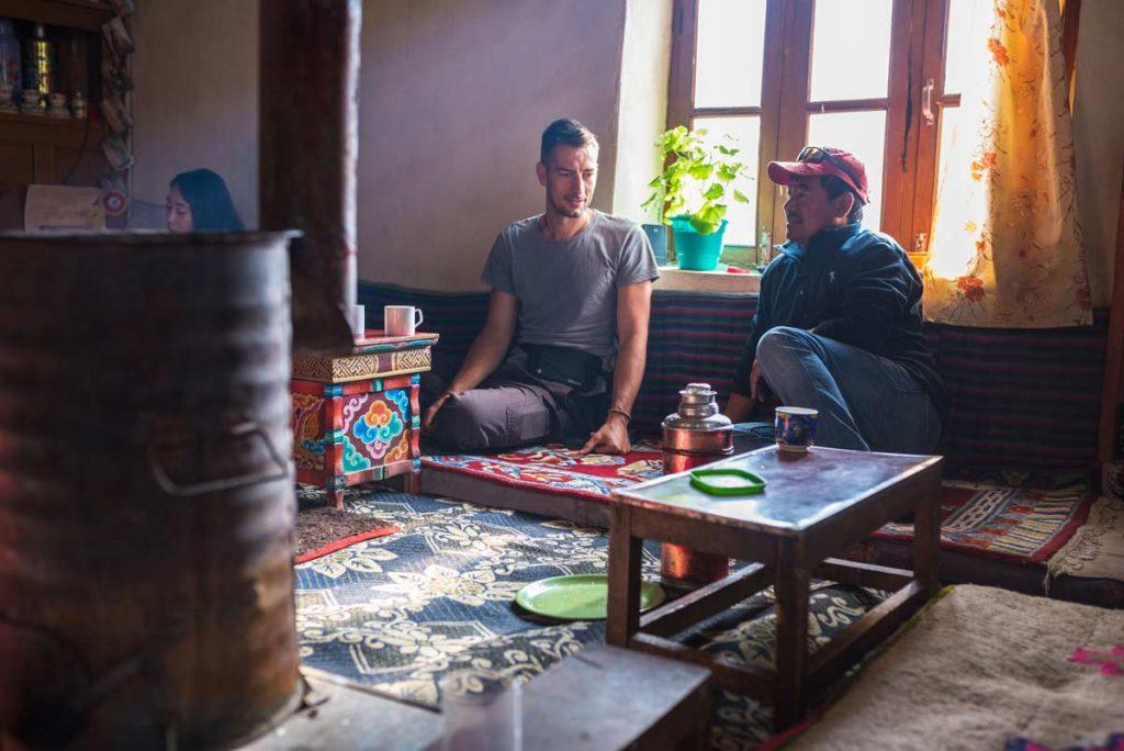 La piccola e accogliente guest house sul lago Pangong, Ladakh