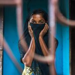 Questa immagine vuole rappresentare una sposa bambina costretta ad un matrimonio precoce in Bangladesh